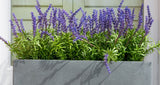 Artificial lavender window boxes
