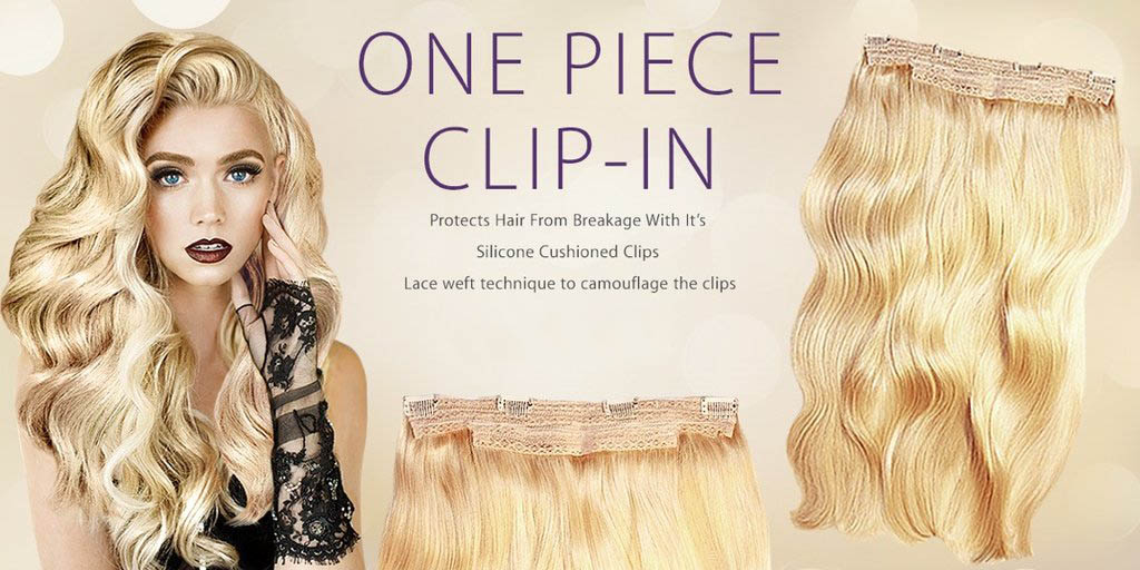 LADORE ONE-PIECE CLIP-IN HAIR EXTENSIONS