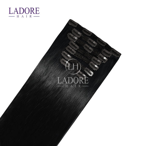 Midnight Dream (#1B) 8-Piece Clip-In Extensions