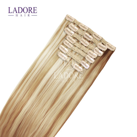 California Blonde (#613/27) 8-Piece Clip-In Extensions