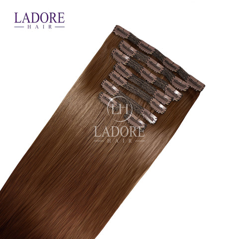 Chestnut Envy (#6) 8-Piece Clip-In Extensions Extensions