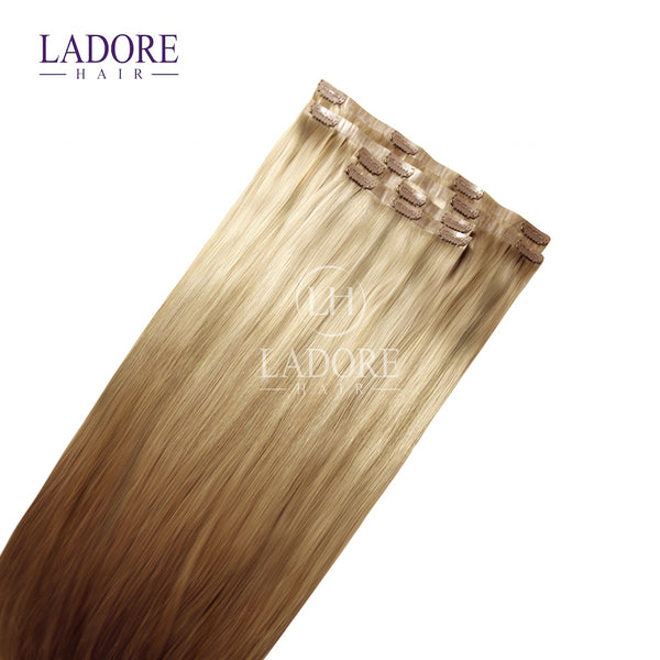 Giselle Blonde (#14/24) Seamless Clip-In Extensions