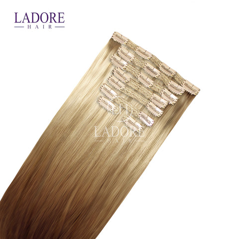 Giselle Blonde (#14/24) 8-Piece Clip-In Extensions