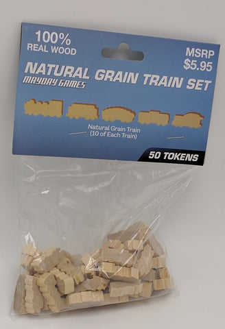 Natural Wooden Train Set (50 trains) -  - Mayday Games - 1