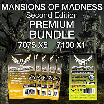 """Mansions of Madness 2nd Edition"" Card Sleeve Bundle - Premium Protection - Mayday Games - 1"