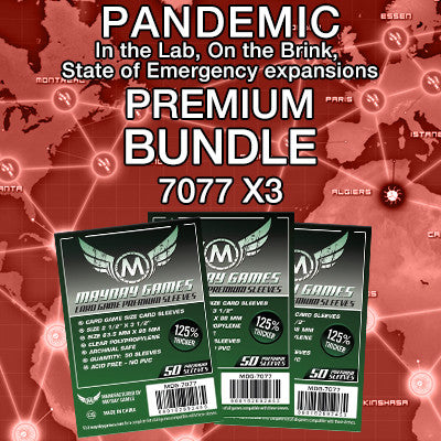 """Pandemic Expansion"" Card Sleeve Kit - Premium Protection - Mayday Games - 1"