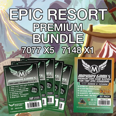 """Epic Resort"" Card Sleeve Kit - Premium Protection - Mayday Games - 1"