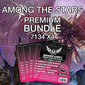 """Among the Stars"" Card Sleeve Bundle - Premium Protection - Mayday Games - 1"
