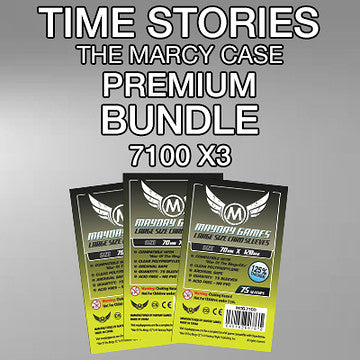"""Time Stories: Marcy"" Card Sleeve Kit - Standard Protection - Mayday Games"