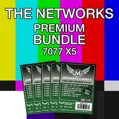 """The Networks"" Card Sleeve Bundle - Premium Protection - Mayday Games - 1"