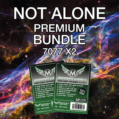 """Not Alone"" Card Sleeve Bundle - Premium Protection - Mayday Games - 1"