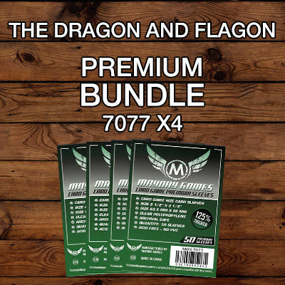 """The Dragon and Flagon"" Card Sleeve Bundle - Premium Protection - Mayday Games - 1"