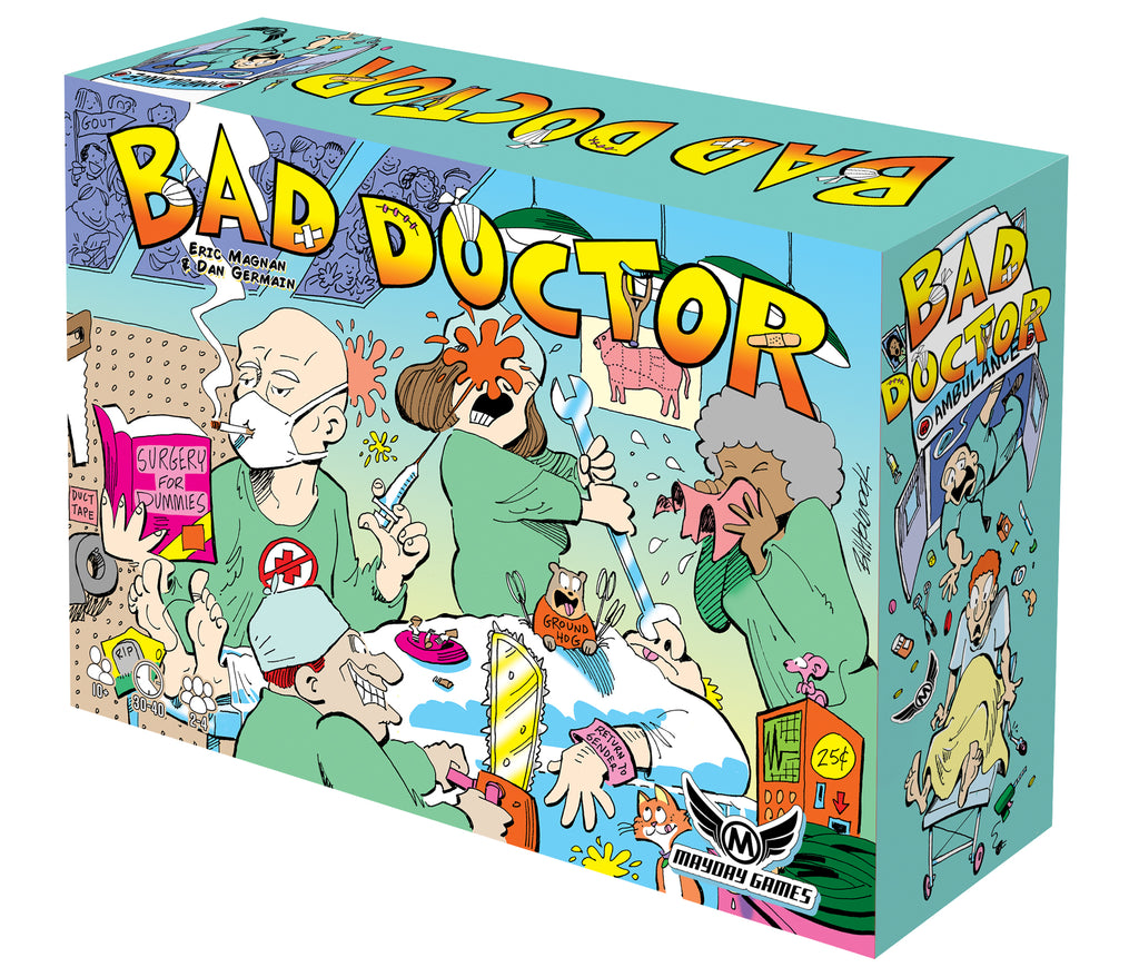 Bad Doctor 2-4 Player Hospital Patient Tile-laying game