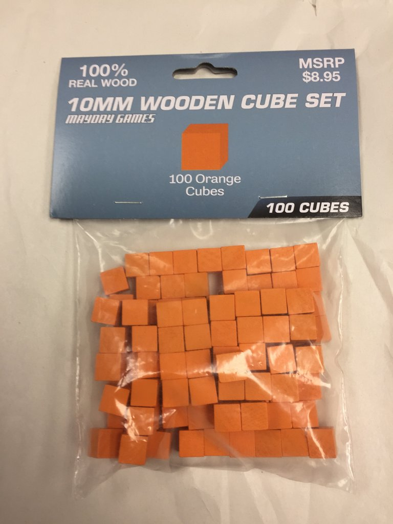 100 Standard Wooden Cubes - 10 mm size (Several Sizes to Choose From)