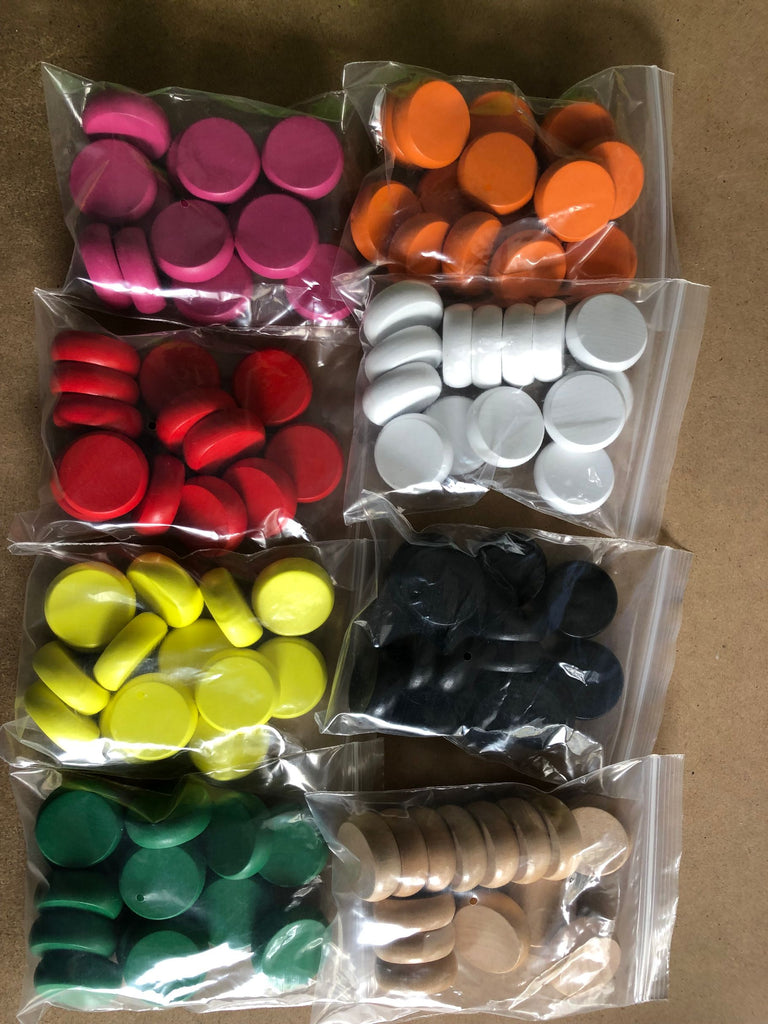 14 Count Crokinole Discs (Choose from 9 colors)