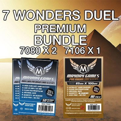 """7 Wonders: Duel"" Card Sleeve Kit - Premium Protection - Mayday Games - 1"
