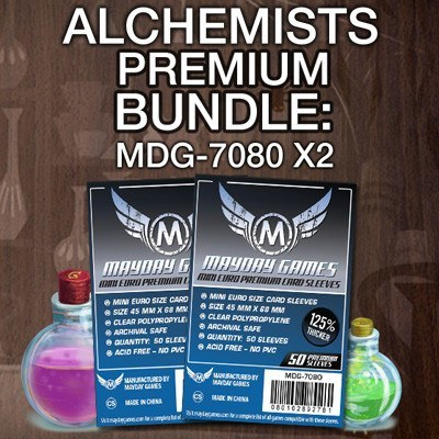 """Alchemists"" Card Sleeve Kit - Premium Protection - Mayday Games - 1"