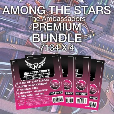 """Among the Stars: The Ambassadors"" Card Sleeve Kit - Premium Protection - Mayday Games - 1"