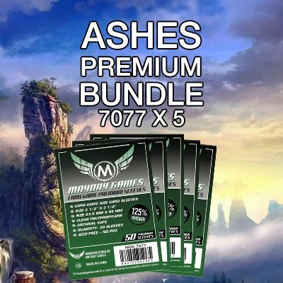 """Ashes"" Card Sleeve Kit - Premium Protection - Mayday Games - 1"