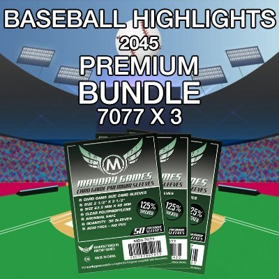 """Baseball Highlights 2045"" Card Sleeve Kit - Premium Protection - Mayday Games - 1"