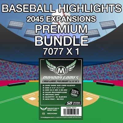 """Baseball Highlights 2045: Expansions"" Card Sleeve Kit - Premium Protection - Mayday Games - 1"