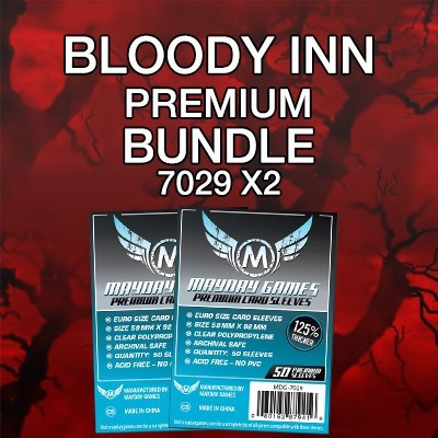 """Bloody Inn"" Card Sleeve Kit - Premium Protection - Mayday Games - 1"
