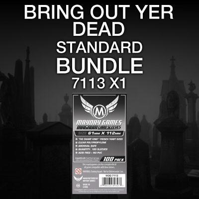 """Bring Out Yer Dead"" Card Sleeve Kit - Standard Protection - Mayday Games - 1"