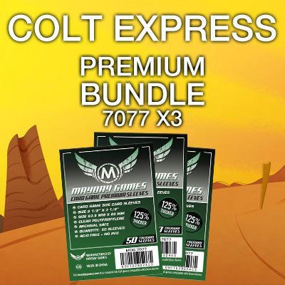 """Colt Express"" Card Sleeve Bundle - Premium Protection - Mayday Games - 1"