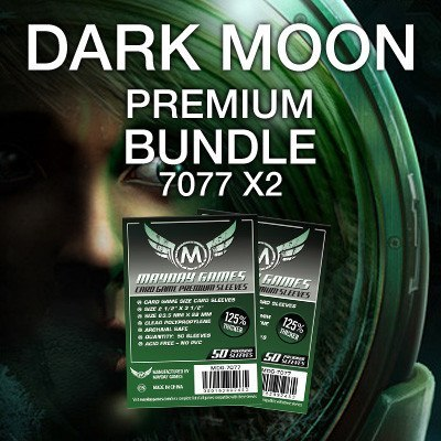 """Dark Moon"" Card Sleeve Kit - Premium Protection - Mayday Games - 1"