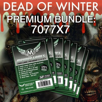"""Dead of Winter"" Card Sleeve Kit - Premium Protection - Mayday Games - 1"