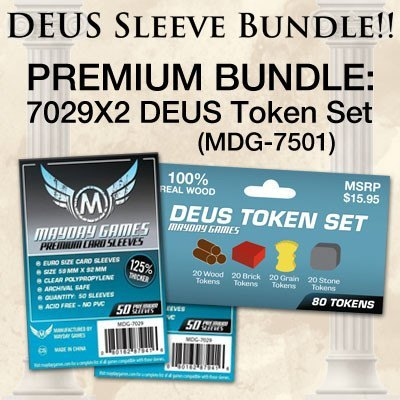 """Deus"" Card Sleeve & Token Kit - Premium Protection - Mayday Games - 1"