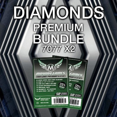 """Diamonds"" Card Sleeve Kit - Premium Protection - Mayday Games - 1"