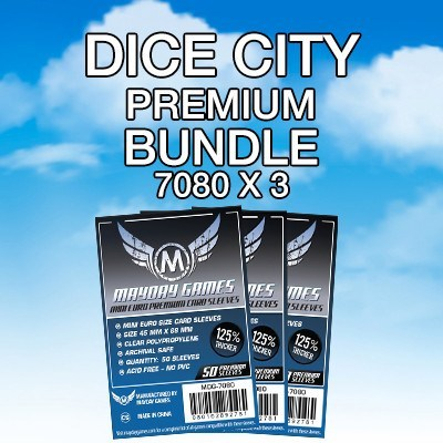 """Dice City"" Card Sleeve Kit - Premium Protection - Mayday Games - 1"