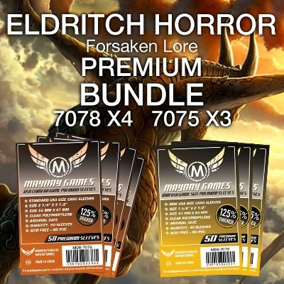 """Eldritch Horror: Forsaken Lore"" Card Sleeve Kit - Premium Protection - Mayday Games - 1"