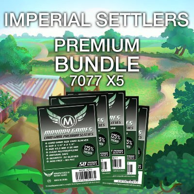 """Imperial Settlers"" Card Sleeve Kit - Premium Protection - Mayday Games - 1"