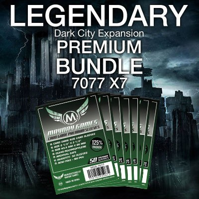 """Legendary: Dark City"" Card Sleeve Kit - Premium Protection - Mayday Games - 1"