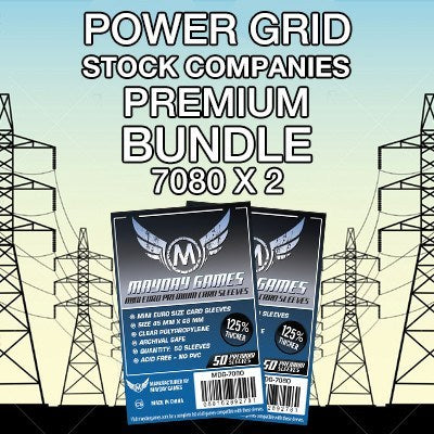 """Power Grid: The Stock Companies"" Card Sleeve Kit - Premium Protection - Mayday Games - 1"