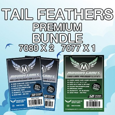 """Tail Feathers"" Card Sleeve Kit - Premium Protection - Mayday Games - 1"