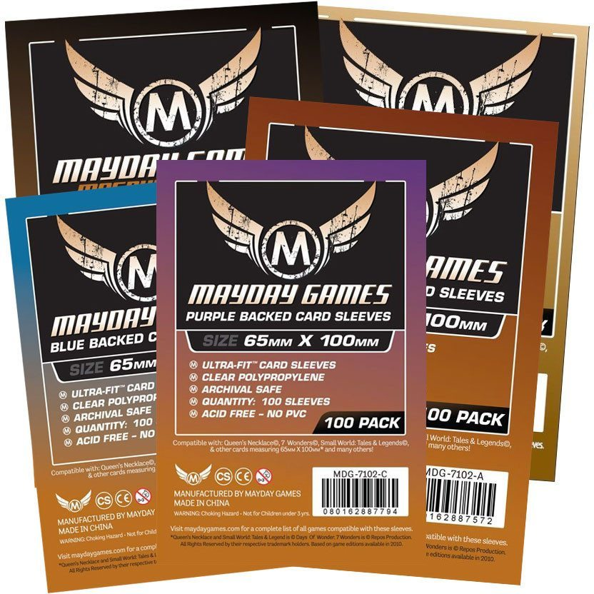 """7 Wonders"" Card Sleeves - Magnum Ultra-Fit  (65x100mm) -  - Mayday Games - 1"