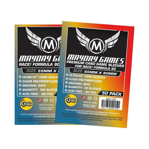"""Race! Formula 90"" Card Sleeves - Ultra Fit (55x80mm) -  - Mayday Games - 1"