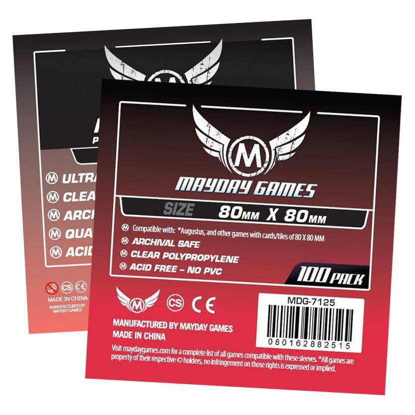 Square Card Sleeves - Medium (80x80mm) -  - Mayday Games - 1