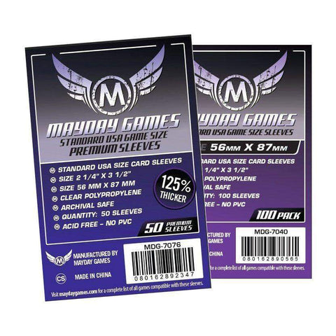 Standard USA Card Sleeves (56x87mm) -  - Mayday Games - 1