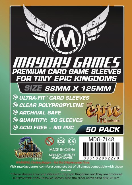 """Tiny Epic Kingdoms"" Card Sleeves (88x125mm) - Premium (50 sleeves per pack) - Mayday Games - 1"