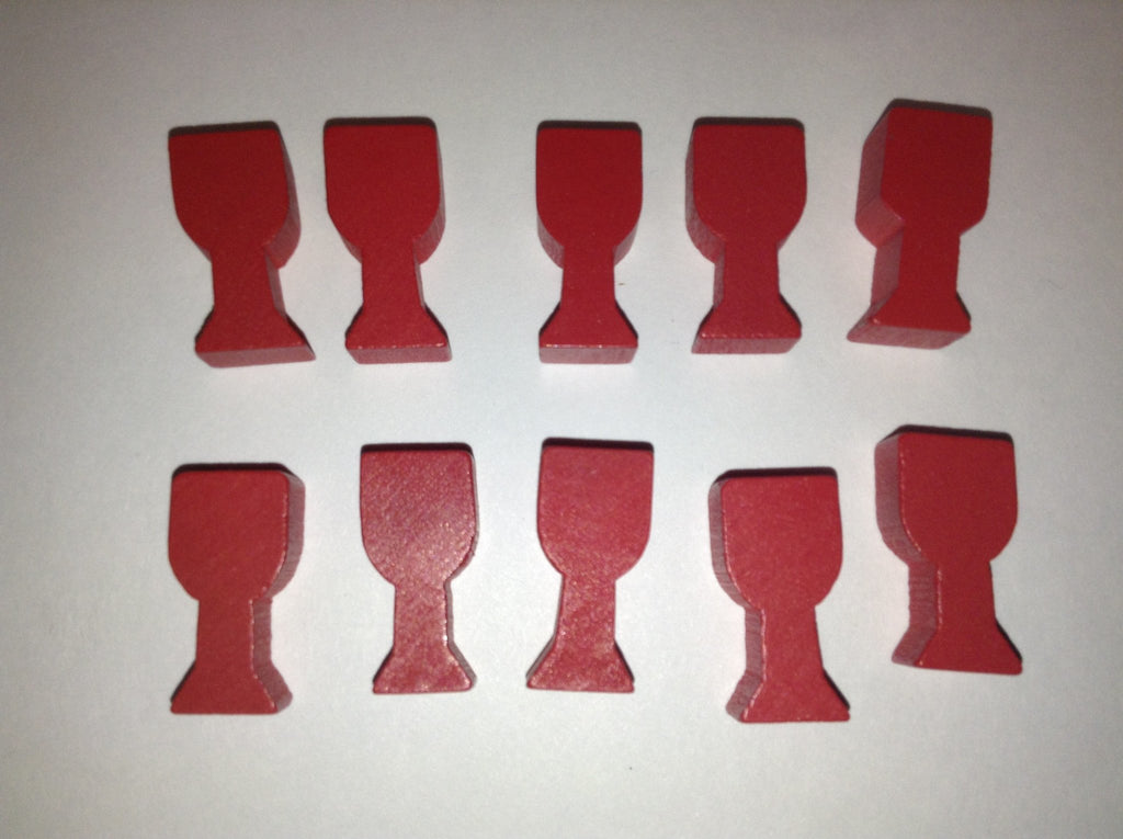 10 Red Goblet Tokens -  - Mayday Games