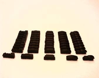 Black Wooden Train Set (50 trains) -  - Mayday Games