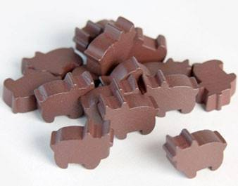 Pack of 10 brown Cow/Cattle Tokens -  - Mayday Games