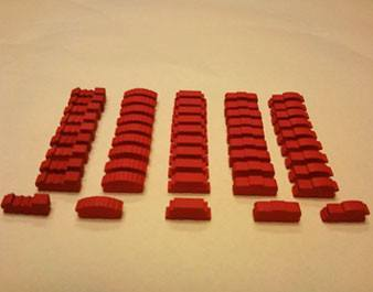 Red Wooden Train Set (50 trains) -  - Mayday Games