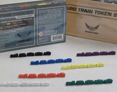 Wooden Train Token Set - Premium -  - Mayday Games - 1
