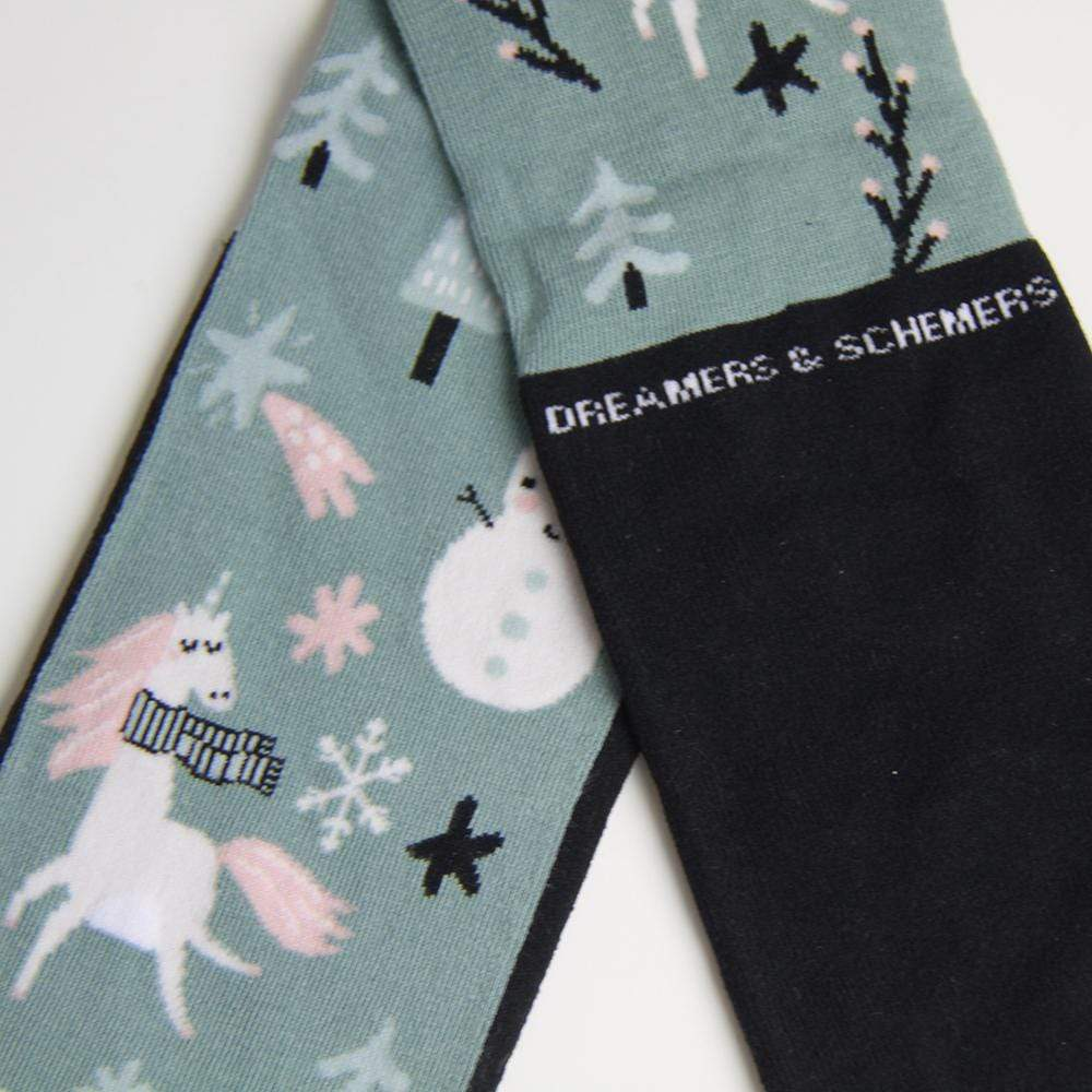 dreamers & schemers Boot Sock Frosty Limited Edition Knit Socks equestrian boot socks boot socks thin socks riding socks pattern socks tall socks funny socks knee high socks horse socks horse show socks