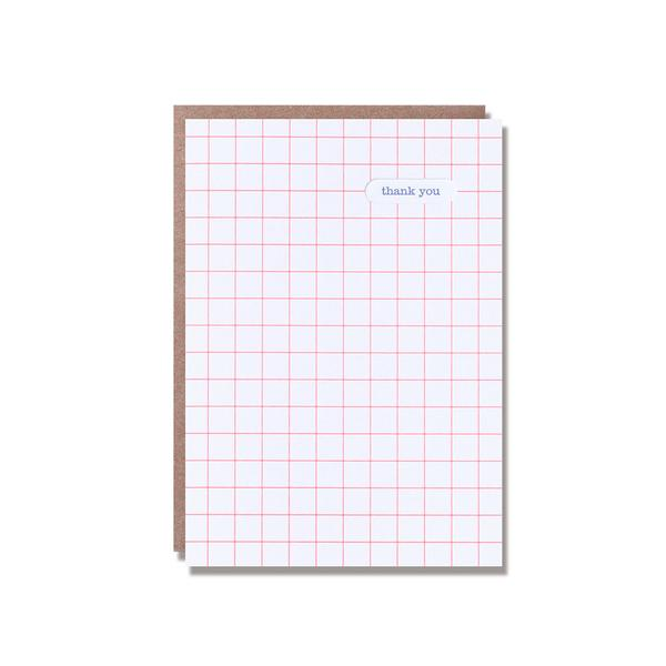 Grid Thank You Card